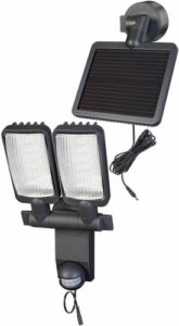LED spotlight med rörelsesensor och med solceller